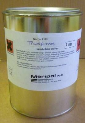 Transparent filler/BP 72, 1 kg.